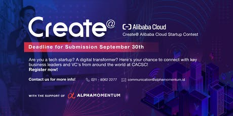 Create 2019 - Startup Competition by Alibaba Cloud tickets