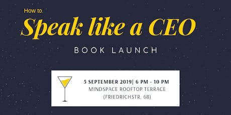 Speak Like a CEO Book Launch Tickets