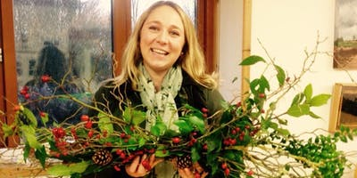 Christmas wreath or garland making and supper
