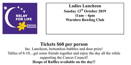 Relay for Life - Ladies Luncheon tickets