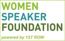 1ST ROW und WOMEN SPEAKER FOUNDATION logo