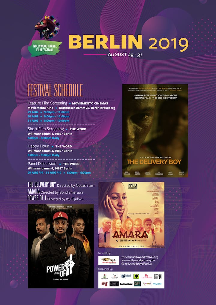 Attend all events/screenings with your festival pass during the NTFF and get a discount on the Tuface concert in Berlin on the 1st of September 2019