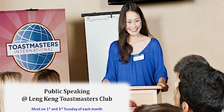 International Speech Contest at Singapore Leng Kee Toastmasters tickets