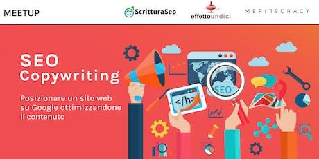 SEO Copywriting: posizionare un sito su Google ottimizzandone il contenuto biglietti