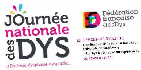 JOURNEE DES DYS - 05/10/19 - Conférence Fabienne RAKITIC  - 13H à 15H billets