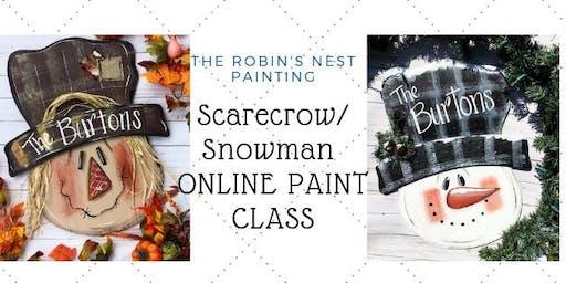 Scarecrow or Snowman Online Paint Class