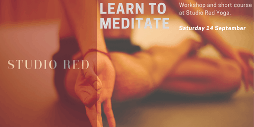 Learn Meditation at Studio Red Yoga