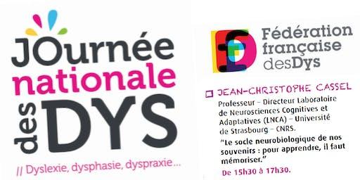 JOURNEE DES DYS - 05/10/19 - Conférence Pr. J-Ch. CASSEL  - 15H30 à 17H30