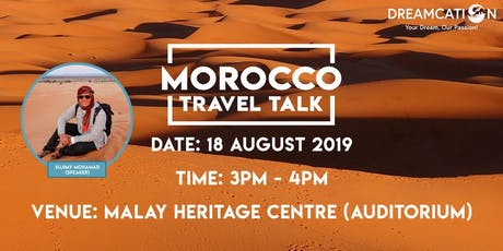 Morocco Travel Talk tickets