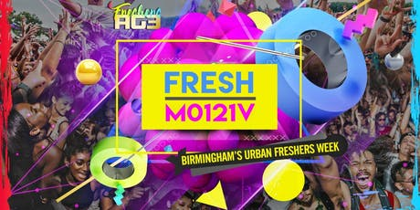 Freshers AGE 19/20 - Birmingham's Ultimate Urban Events Package tickets