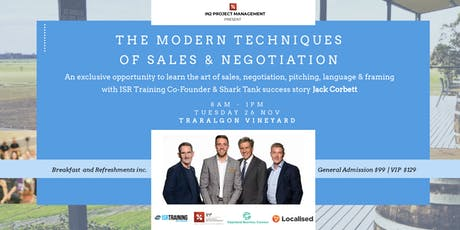 The Modern Techniques of Sales & Negotiation tickets