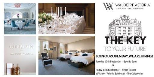 Waldorf Astoria Edinburgh - Recruitment Open day