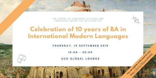 Celebration of 10 years of BA in International Modern Languages