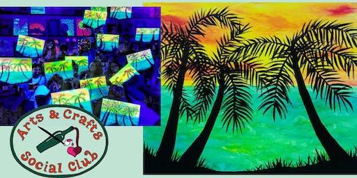 "BLACKLIGHT Painting Class - ""Ocean Glow"""