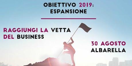 EVENTO Obiettivo 2019: Espansione (Albarella) biglietti