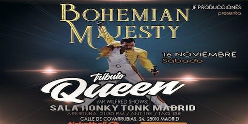 Tributo a Queen en Honky Tonk Madrid Bohemian Majesty