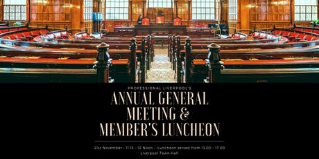 Professional Liverpool's AGM & Members' Lunch tickets