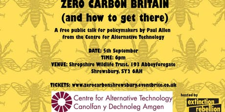 Zero Carbon Britain (and how to get there), a talk hosted by XR Shrewsbury tickets