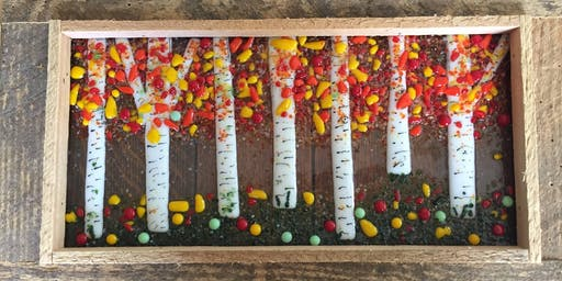 Fall Birch Trees Fused Glass Class