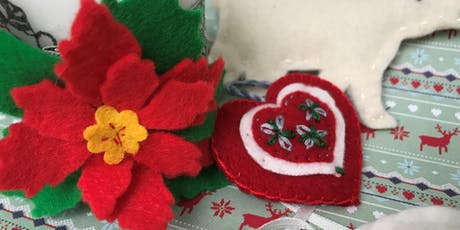 Community Learning - Christmas Felt Decorations - Mansfield Central Library tickets