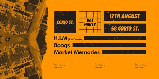 CORIO ST. DAY PARTY | ft. KIM (The Presets), Boogs & Market Memories