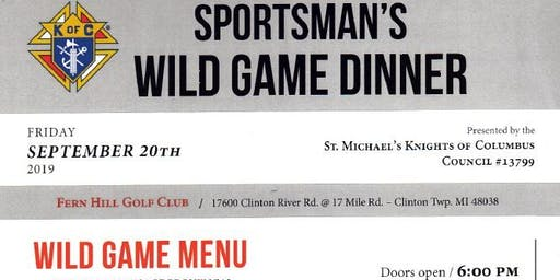 St. Michael Knights of Columbus Charity Wild Game Dinner