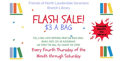 Flash Sale — All Proceeds Benefit the Friends of the Library