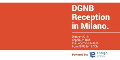 DGNB Reception in Milano.