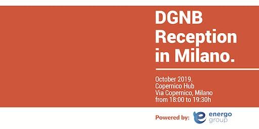 DGNB Reception in Milano.