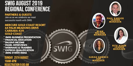 SWIG August 2019 Gold Coast Regional Conference