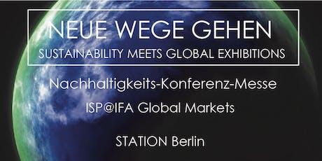 Nachhaltigkeits-Konferenz-Messe ISP@IFA Global Markets 2019 Tickets