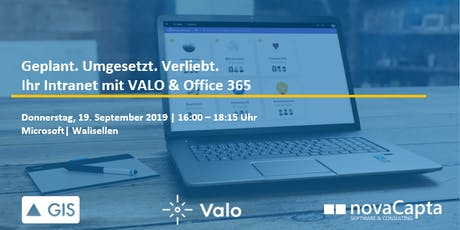 Digital Workplace Tour mit Valo und Office 365 Tickets
