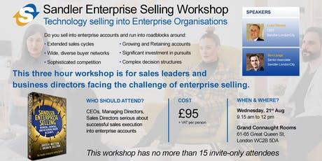 Enterprise Selling Workshop tickets