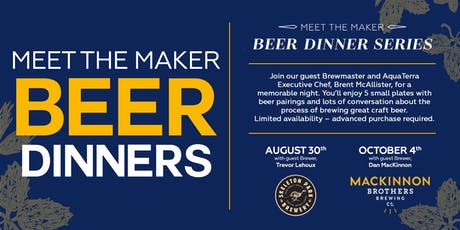 Meet the Maker Beer Dinner Series tickets