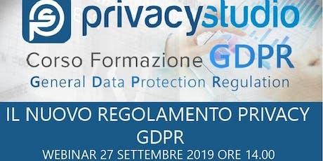 Privacy GDPR - Domande e risposte biglietti