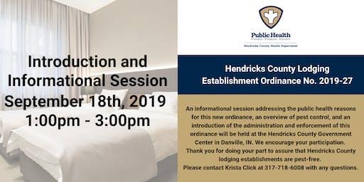 Hendricks County Lodging Establishment Ordinance  Introduction