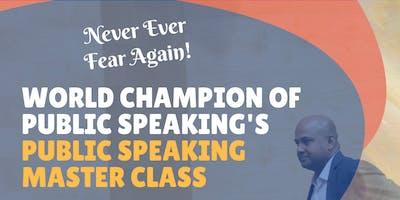 Public Speaking Masterclass by World Champion of Public Speaking - Manoj Vasudevan
