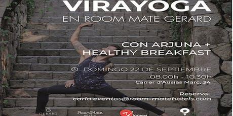 Virayoga con Arjuna + healthy brunch entradas