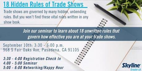 18 Hidden Rules of Trade Shows Seminar tickets