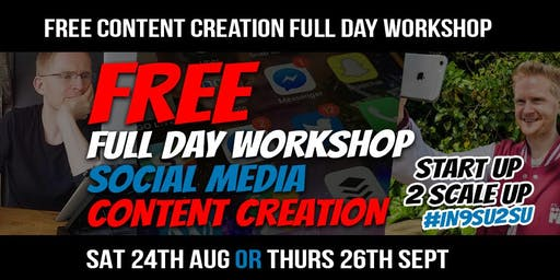 Content Creation StartUp2ScaleUp FREE WORKSHOP #IN9SU2SU