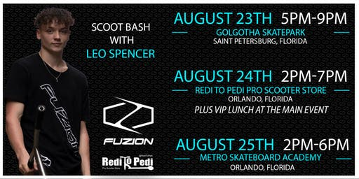 Redi To Pedi Presents: Fuzion Scoot Bash with Leo Spencer