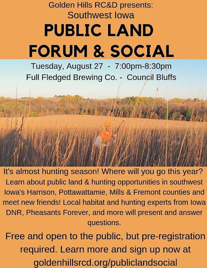 Southwest Iowa Public Land Forum & Social image