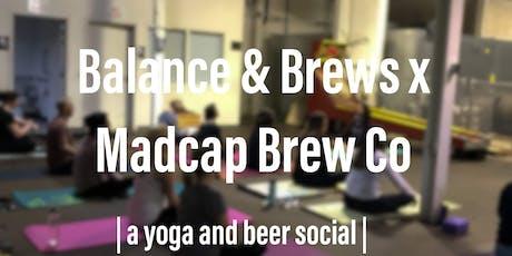 Yoga + Beer at MadCap Brew Co w/Balance & Brews® tickets