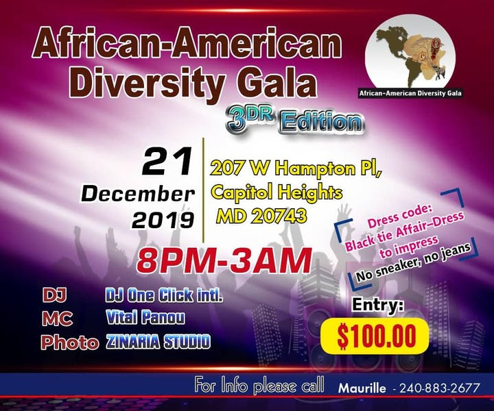 AFRICAN AMERICAN DIASPORA GALA - 3RD EDITION - DMV