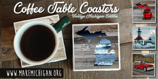 Michigan Coffee Table Coasters - Trufant