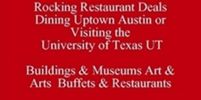 Rocking Dining Uptown Work Lunch Austin Restaurant Guide Living in Austin or Visiting UT Places to Go & Things to Know & See 512 821-2699 Texas University Eating Club