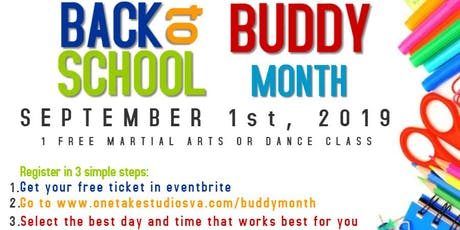 Buddy Month - 1 Free Martial Arts OR Dance Class tickets