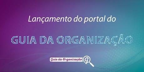 Lançamento do Guia da Organização ingressos