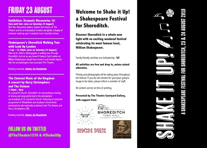 Shake it Up! A Shakespeare Festival for Shoreditch image