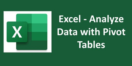 Excel - Analyze Data with Pivot Tables tickets